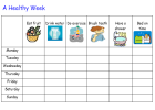 Healthy week chart | Recurso educativo 40385