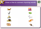 Rhyming activities | Recurso educativo 45254