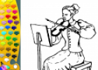 ¡A Colorear!: Dama violinista | Recurso educativo 28960
